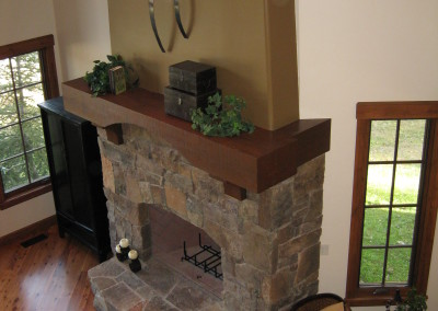 Classy Country Fireplace
