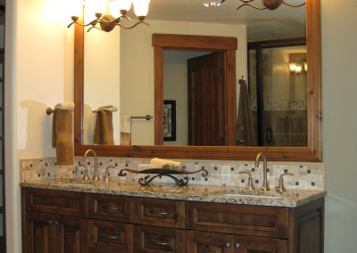 Classy Country Guest Bath